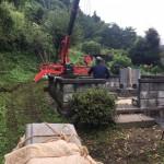 庄原市口和町にて、お墓の移動据え付けをしました!!