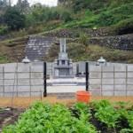 三次市布野町にて、墓地のブロック積みをしました!!