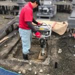 安芸高田市向原町にて、お墓の基礎工事をしました!!