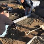 福山市駅家町にて、墓地の巻石工事をしました!!