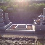 三次市の寺院墓地にて、巻石と基礎工事をさせていただきました!!