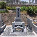 三次市の寺院墓地にて、お墓の据付けです!!