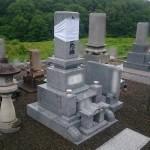 三次市の共同墓地にて、お墓の据付けです!!