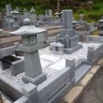 庄原市総領町の共同墓地にて、香炉など据付けました!!