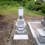 島根県飯石郡飯南町にて、お墓の据付けをしました。