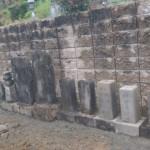 三次市の共同墓地にて、古墓整理しました!!