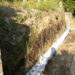 三次市の共同墓地にて、土留めのブロック積みをしました!!
