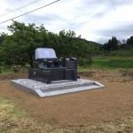 安芸高田市高宮町にて、洋型墓石を据付けました!!