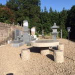 三次市の共同墓地にて、墓地内仕上げをしました!!