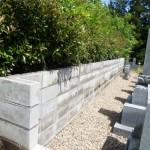 三次市の共同墓地にて、建築ブロック積みをしました!!