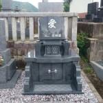 三次市の共同墓地にて、洋型墓石を据付けました!!
