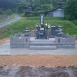 三次市にて、墓地周辺のコンクリート舗装〜砂利入れ(防草シート)をしました!!