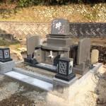 三次市三良坂町にて、洋型墓石を据付けました!!