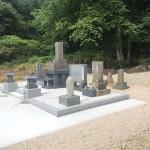 三次市布野町にて、お墓の移設、墓地周辺コンクリート打ちをしました!!