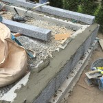 三次市上川立町にて、巻石工事と納骨堂の基礎工事をしました!!