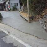 福山市神辺町にて、コンクリート打ちをしました!!