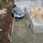 三次市粟屋町にて、墓地の周りのコンクリート舗装をしました!!