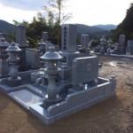 三次市西酒屋町にて、お墓(和型墓石)の据え付けをしました!!