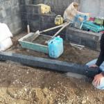 三次市十日市南にて、巻石工事とお墓の基礎工事をしました!!