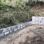 世羅郡世羅町にて、墓地のブロック積みをしました!!