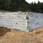 三次市和知町にて、墓地の護岸ブロック積みをしました!!