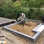 尾道市御調町にて、巻石工事とお墓の基礎工事をしました!!