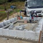 三次市和知町にて、墓地の石積み工事をしました!!