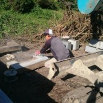 三次市甲奴町にて、お墓の基礎工事をしました!