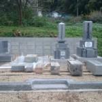 三次市甲奴町にて、移動してきたお墓のお掃除と据え付けをしました!!