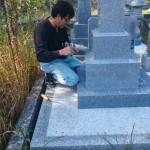 三次市南畑敷町にて、和型墓石を据え付けました!!