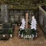 三次市三良坂町にて、墓地で納骨のお手伝いをしました!!