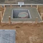 福山市蔵王町にて、お墓の基礎工事をしました!!
