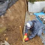 神石郡神石高原町にて、墓地のブロック積みをしました!!