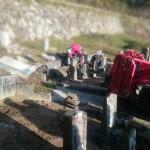 三次市甲奴町にて、たくさんあるお墓を整理し、ひとつにまとめました!!