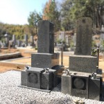 福山市駅家町にて、お墓の据付け〜墓地の仕上げをしました!!